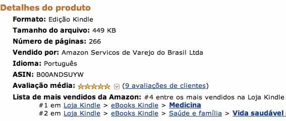 Livro Enxaqueca entre os mais vendidos da Amazon